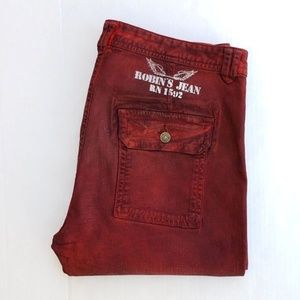 NEW ROBINS JEAN Men's Mechanic Slim Jean Dusty Red